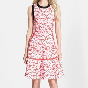 Kate Spade floral jacquard fit & flare dress